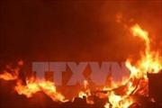 Cháy rụi cơ sở sản xuất đồ gỗ ở An Giang
