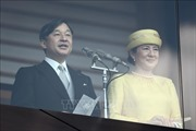 Tân Nhật hoàng Naruhito lần đầu tiên xuất hiện trước công chúng sau khi đăng quang