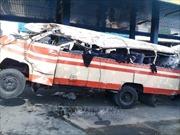 Lật xe buýt khi vào cua, 5 người thiệt mạng và 24 hành khách bị thương