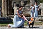 Lễ thắp đuốc Thế vận hội Olympic Tokyo 2020 tại Đền Hero cổ ở Hy Lạp