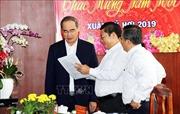 Bí thư Thành ủy Nguyễn Thiện Nhân chúc Tết người dân và các cơ quan báo chí