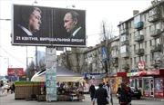 Điện Kremlin phản ứng trước hình ảnh Tổng thống Putin in trên áp phích bầu cử Ukraine