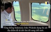 Video Tổng thống Indonesia thị sát địa điểm thiên đô