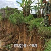 Sạt lở nghiêm trọng bờ sông Đồng Nai do khai thác cát trái phép
