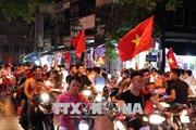 Người dân quê hương Văn Toàn ăn mừng chiến thắng của Olympic Việt Nam