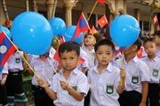 Thầy trò Trường song ngữ Lào - Việt Nam Nguyễn Du vui tươi bước vào năm học mới