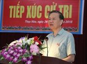 Bộ trưởng Bộ Công an Tô Lâm tiếp xúc cử tri tại xã Thùy Hòa, huyện Yên Phong, Bắc Ninh