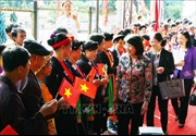 Phó Chủ tịch nước dự Ngày hội Đại đoàn kết toàn dân tộc tại Bình Dương
