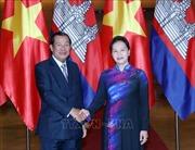Chủ tịch Quốc hội Nguyễn Thị Kim Ngân hội kiến Thủ tướng Vương quốc Campuchia