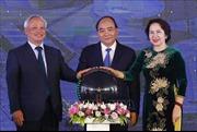 Thủ tướng Nguyễn Xuân Phúc dự Lễ khánh thành Tổng kho và Bến cảng xăng dầu DKC PETRO tỉnh Nghệ An