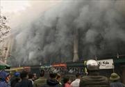 Cháy lớn tại Trung tâm thương mại Chợ Giầu, thị xã Từ Sơn