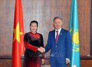 Chủ tịch Quốc hội Nguyễn Thị Kim Ngân hội kiến Chủ tịch Hạ viện Kazakhstan