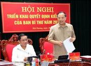 Kiểm tra việc thực hiện các nghị quyết và quy định của Đảng về nêu gương tại Hải Dương
