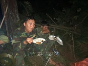 Thâu đêm chữa cháy rừng tại núi Hồng Lĩnh, Hà Tĩnh