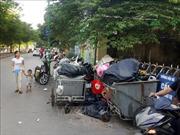 Rác thải ùn ứ trên nhiều tuyến phố Hà Nội