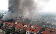 Cháy lớn tại Khu du lịch Thiên đường Bảo Sơn