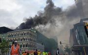 Cháy lớn tại trung tâm thành phố Auckland, New Zealand