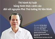 Thi hành kỷ luật bằng hình thức cảnh cáo đối với nguyên Phó Thủ tướng Vũ Văn Ninh
