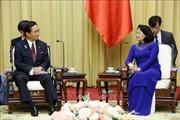 Phó Chủ tịch nước Đặng Thị Ngọc Thịnh tiếp Thống đốc tỉnh Kanagawa, Nhật Bản
