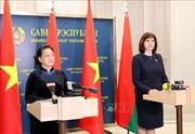 Chủ tịch Quốc hội Nguyễn Thị Kim Ngân và Chủ tịch Thượng viện Cộng hòa Belarus gặp gỡ báo chí