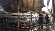 Cháy nổ lớn tại công ty sản xuất gỗ Wanek