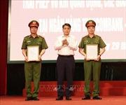 Bí thư Thành ủy Hà Nội biểu dương các chiến sĩ phá vụ án cướp ngân hàng tại Sóc Sơn