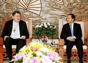 Trưởng ban Tôn giáo Chính phủ tiếp Bộ trưởng của Tòa thánh Vatican