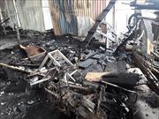 Hỏa hoạn thiêu rụi khu nhà xưởng tại thành phố Hạ Long
