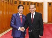 Phó Thủ tướng Trương Hòa Bình tiếp Bí thư, Đô trưởng Thủ đô Vientiane, Lào