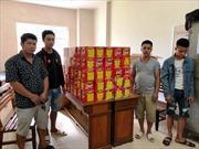 Hà Tĩnh: Bắt giữ 5 đối tượng mua bán 340kg pháo nổ