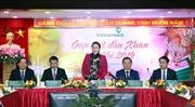 Chủ tịch Quốc hội Nguyễn Thị Kim Ngân thăm, chúc Tết tại Vietcombank