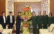 Đồng chí Võ Văn Thưởng thăm, chúc mừng các thầy thuốc BV Trung ương Quân đội 108