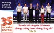 35 tác phẩm đoạt giải 'Báo chí với công tác đấu tranh phòng, chống tham nhũng, lãng phí'