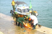 Diễn tập phòng chống thiên tai, cứu hộ cứu nạn tại Cảng cá Cửa Hội
