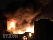 Cháy lớn tại quán hàng ăn 200 m2 đường Tôn Đức Thắng