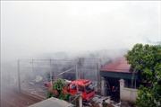 Hỏa hoạn thiêu rụi toàn bộ hàng hóa trong nhà kho rộng 370m2