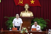 Đồng chí Trần Thanh Mẫn kiểm tra việc thực hiện Chỉ thị 35 tại thành phố Cần Thơ
