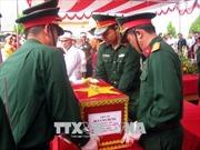 Hòa Bình đón nhận, an táng 31 hài cốt liệt sỹ hy sinh tại biên giới Tây Nam