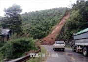 Sơn La: Sạt lở ta-luy dương gây ách tắc Quốc lộ 4G
