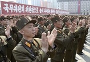 Mít tinh lớn chào mừng Chủ tịch Kim Jong-un tái đắc cử Chủ tịch Ủy ban Quốc vụ Triều Tiên