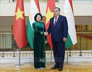 Phó Chủ tịch nước Đặng Thị Ngọc Thịnh tiếp xúc song phương lãnh đạo nhiều nước tại Tajikistan