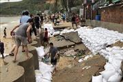 Bình Định có 2 người bị thương, 144 căn nhà, 600m kè bị sập hoàn toàn do bão số 5