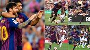 Messi toả sáng, Barca thắng '8 sao'; Mourinho mắng Rashford