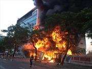 Hỏa hoạn thiêu rụi Siêu thị điện máy Hoàng Gia tại Hải Phòng