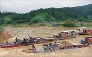 Phạt 155 triệu đồng đối với chủ tàu khai thác cát trái phép