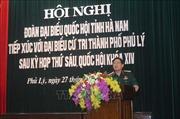 Cử tri Hà Nam kiến nghị giải quyết hiệu quả ô nhiễm môi trường nước sông Nhuệ, sông Đáy