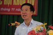 Trưởng ban Tuyên giáo Trung ương Võ Văn Thưởng tiếp xúc cử tri tại tỉnh Đồng Nai