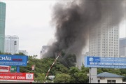 Khống chế đám cháygần trụ sở Liên đoàn Bóng đá Việt Nam