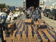 Cảnh sát biển xử phạt và thu giữ hàng hóa buôn lậu trị giá 40 tỷ đồng