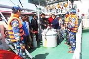 Cảnh sát biển bắt giữ một tàu nước ngoài có hành vi sang mạn trái phép dầu D.O